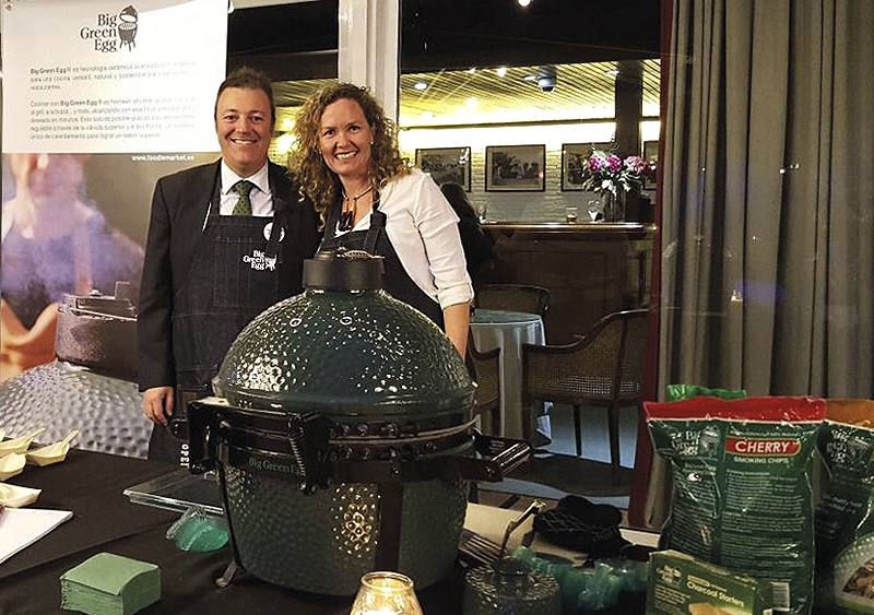 Big Green Egg en el Club de Polo de Barcelona