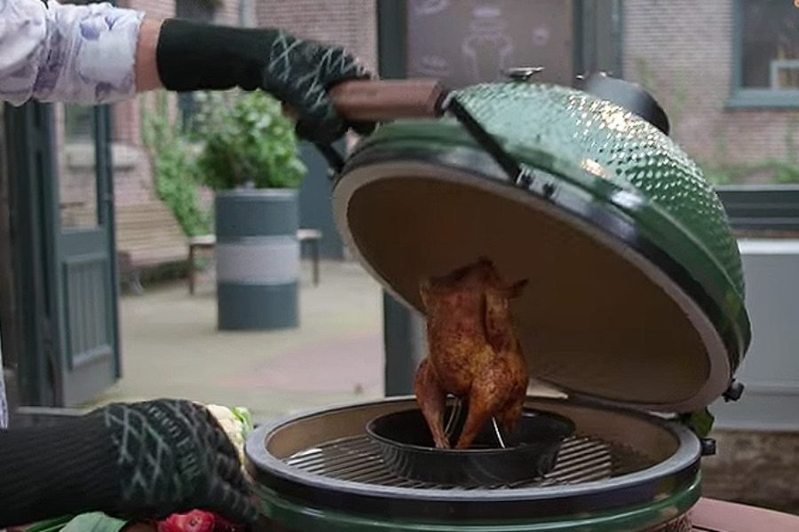 Calor indirecto en el Big Green Egg