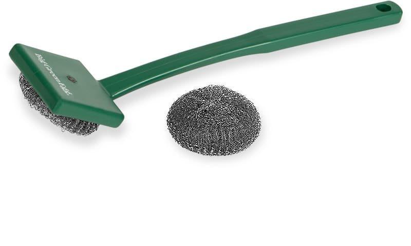 Cepillo limpiador para las rejillas, con mallas de acero