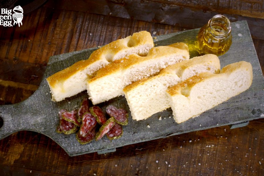 Pan Focaccia al Big Green Egg
