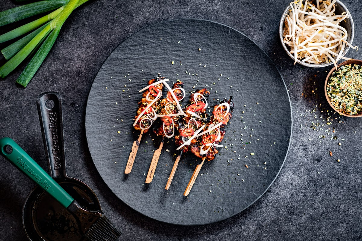 Yakitori con salsa teriyaki