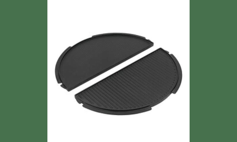 Media plancha parrilla hierro fundido/ doble cara