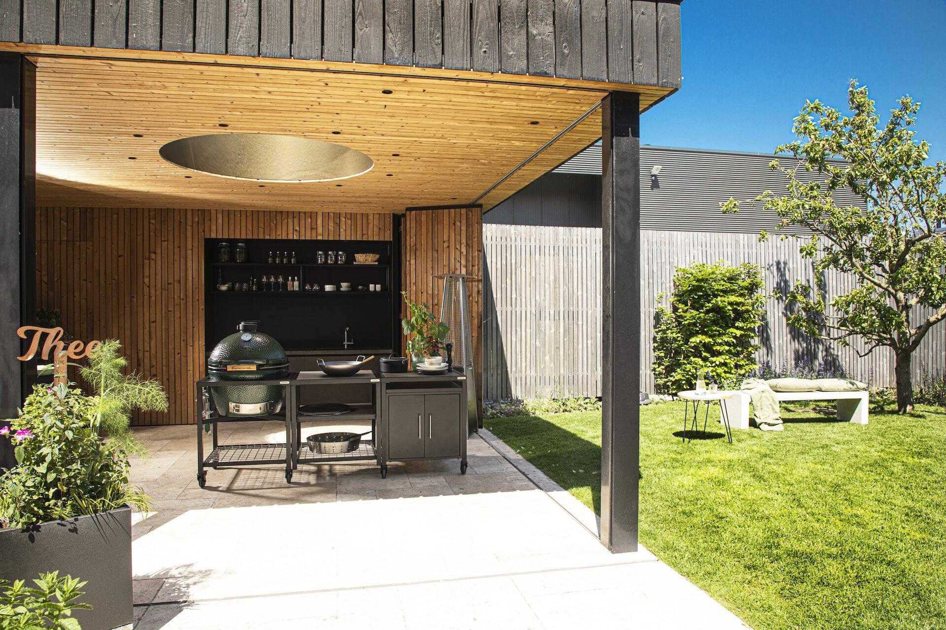 La cocina exterior perfecta para tu Big Green Egg