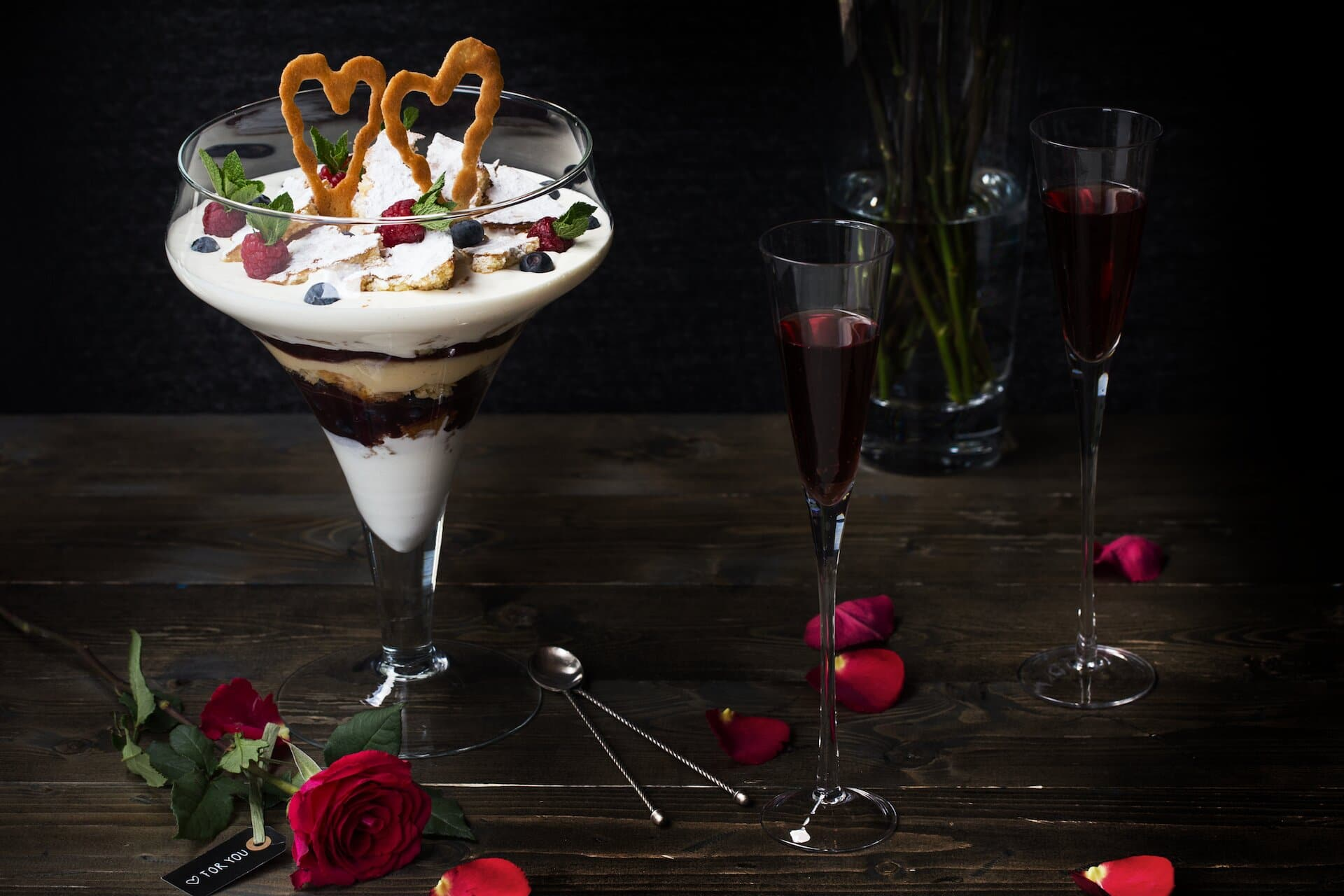 Trifle de San Valentín